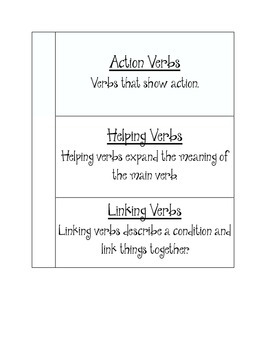 Interactive Journal--Verbs
