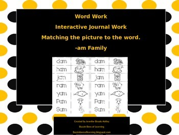 Interactive Journal Work for -am Family