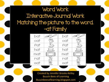 Interactive Journal Work for -at Family