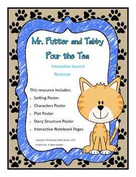 Interactive Journal pages & more for Treasures- Mr. Putter & Tabby Pour the Tea