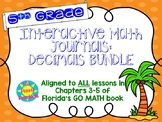 Interactive Journals - 5th Grade DECIMALS skills BUNDLE!