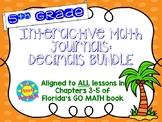 Interactive Journals - 5th Grade DECIMALS skills BUNDLE!