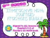 Interactive Journals - 5th Grade FRACTION skills BUNDLE!