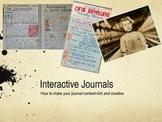 Interactive Journals- A PowerPoint Presentation