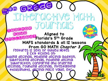 Interactive Journals - Adding & Subtracting Decimals