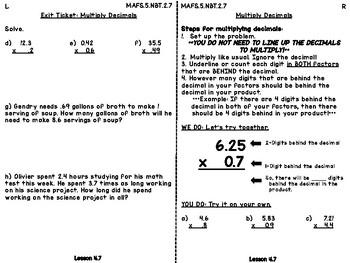 Interactive Journals - 5th Grade - Multiplying Decimals