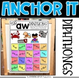 Interactive Kindergarten Anchor Charts | Diphthongs