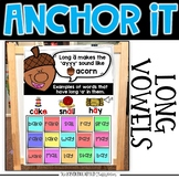 Interactive Kindergarten Anchor Charts   Long Vowel Anchor Charts