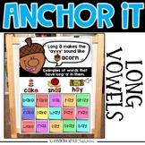 Interactive Kindergarten Anchor Charts | Long Vowel Anchor Charts