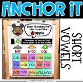 Interactive Kindergarten Anchor Charts | Short Vowel Ancho