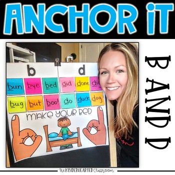 Interactive Kindergarten Anchor Charts | b and d Reversal