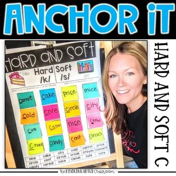 Interactive Kindergarten Anchor Charts | hard and soft c