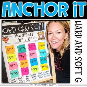 Interactive Kindergarten Anchor Charts | hard and soft g