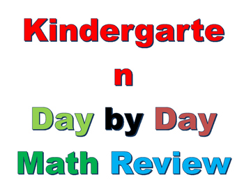 Interactive Kindergarten Math Day by Day Review  Week 22