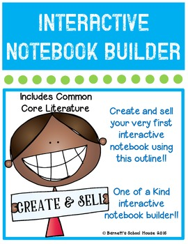 Interactive LITERATURE Notebook CCSS BUILDER KIT {KINDER}