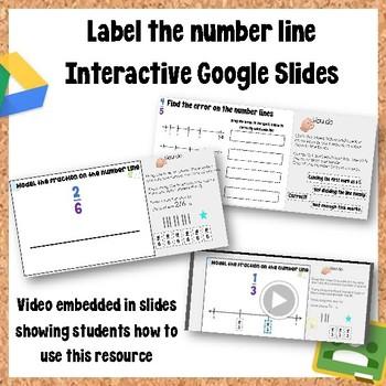 Interactive Label the Number line Google Slides