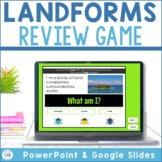 Interactive Landforms Review Game with Google Slides™ and
