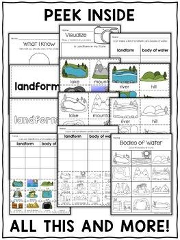 Interactive Activities - Landform and Water Bodies