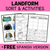 Landform and Bodies of Water Sort Activities