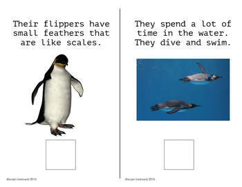 Penguins Interactive Language Activities Informational text for Speech Therapy