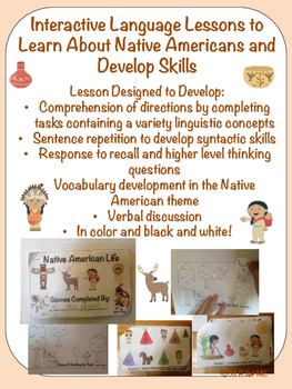 Interactive Language Activity to Learn About Native Americans and Develop Skills