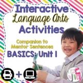 Interactive Language Arts Activities: Just the Basics Set 1 (Gr 3-5)