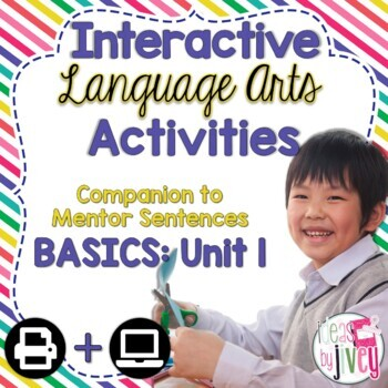 Interactive Language Arts Activities: Just the Basics Set 1 (Gr 3-5)