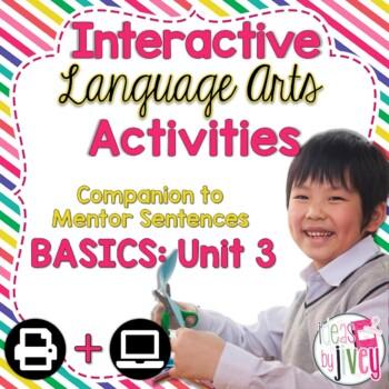 Interactive Language Arts Activities: Just the Basics Set 3 (Gr 3-5)