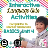 Interactive Language Arts Activities: Just the Basics Set 4 (Gr 3-5)