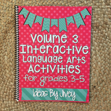 Interactive Language Arts Activities (Vol 3) for Grades 3-5 HARD COPY Book