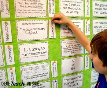 Interactive Language Arts Bulletin Board / Learning Center