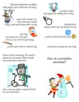 Interactive Language Arts: How to Build a Snowman Activity