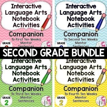 Interactive Language Arts Notebook Bundle (Grade 2) - Four Units!