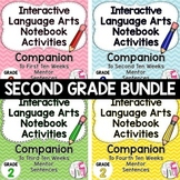 Interactive Language Arts Notebook Bundle (Grade 2) - Four Units!