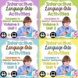 Interactive Language Arts Notebook (Vol 1) Bundle (Grades 3-5) - Four Units!