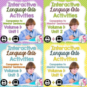 Interactive Language Arts Notebook (Vol 1) Bundle (Grades
