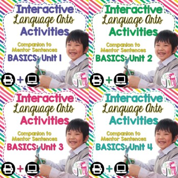 Interactive Language Arts Notebook Just the Basics Bundle (3-5) - Four Units!