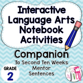 Interactive Language Arts Activities: SECOND Mentor Sentence Unit (Grade 2)