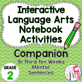 Interactive Language Arts Activities: THIRD Mentor Sentence Unit (Grade 2)