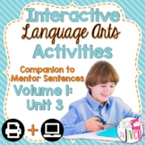 Interactive Language Arts Activities: Vol 1, THIRD Mentor