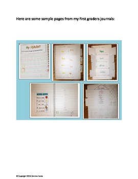 Interactive Language Arts Notebook: First Grade