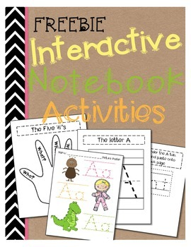 Interactive Language Notebook for K-1 {Common Core Aligned} FREEBIE