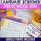 Interactive Language Screener Flipbook - Includes Google S