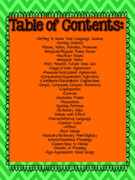 Interactive Language/Grammar Journals {ALL 3rd Grade Language CCSS Included}