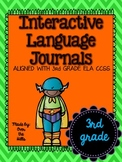 Interactive Language/Grammar Journals {ALL 3rd Grade Langu