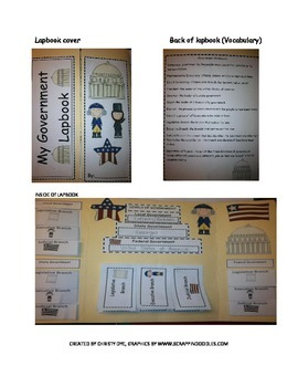 Government Lapbook- Levels and Braches of Government