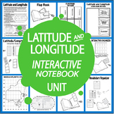 Latitude and Longitude Activities + FOUR Interactive Notebook Assignments