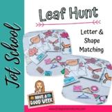Interactive Leaf Shape/Letter Hunt