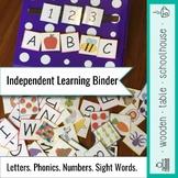 Independent Learning Binder