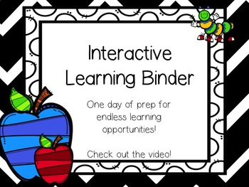 Interactive Learning Binder